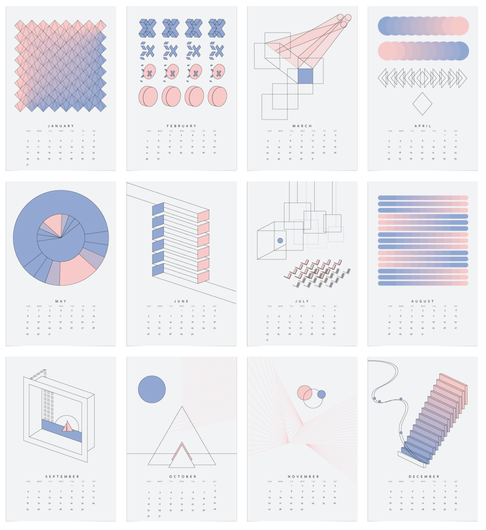 geometric design calendar