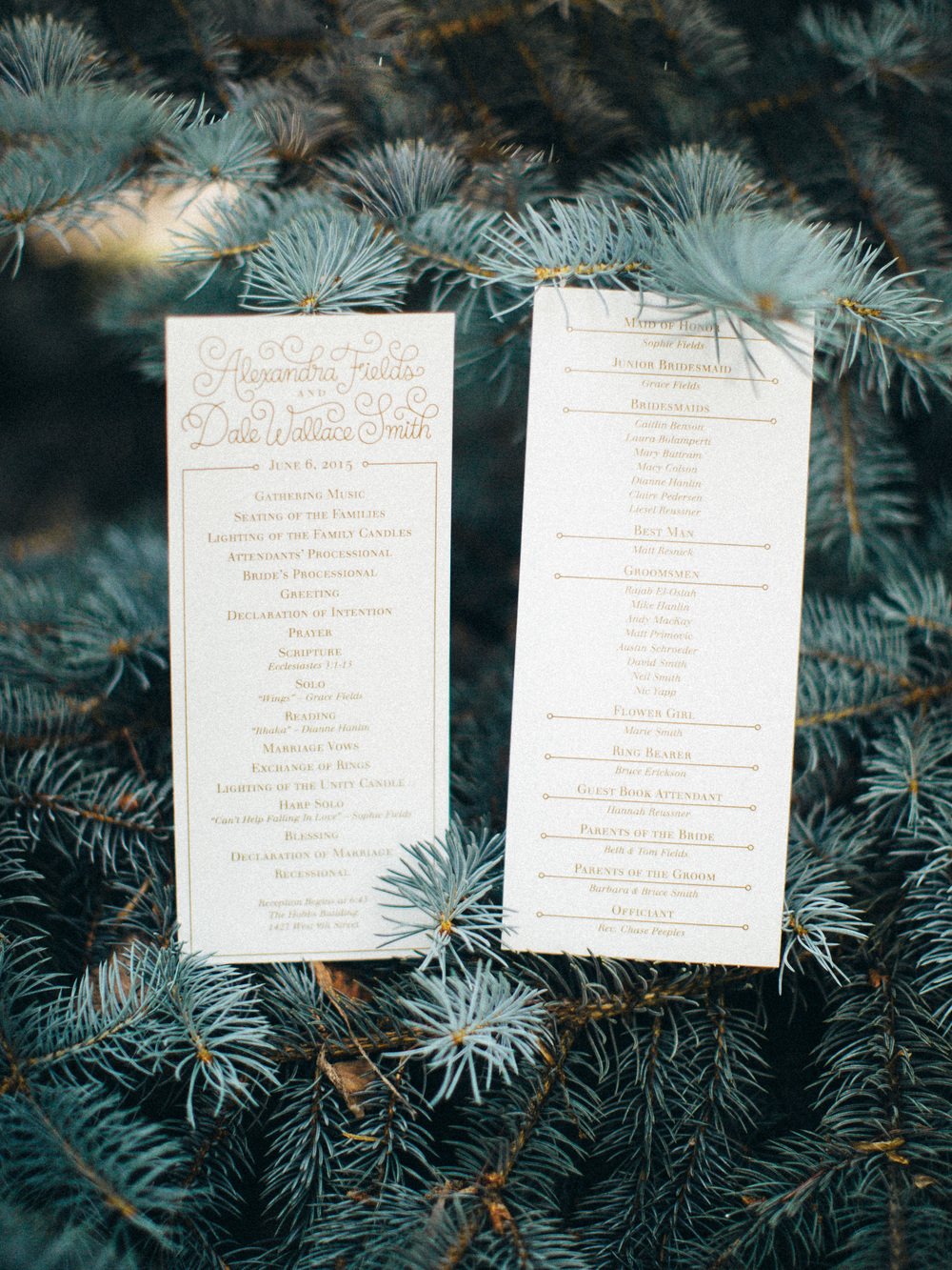 Letters Are Lovely | Wedding Programs