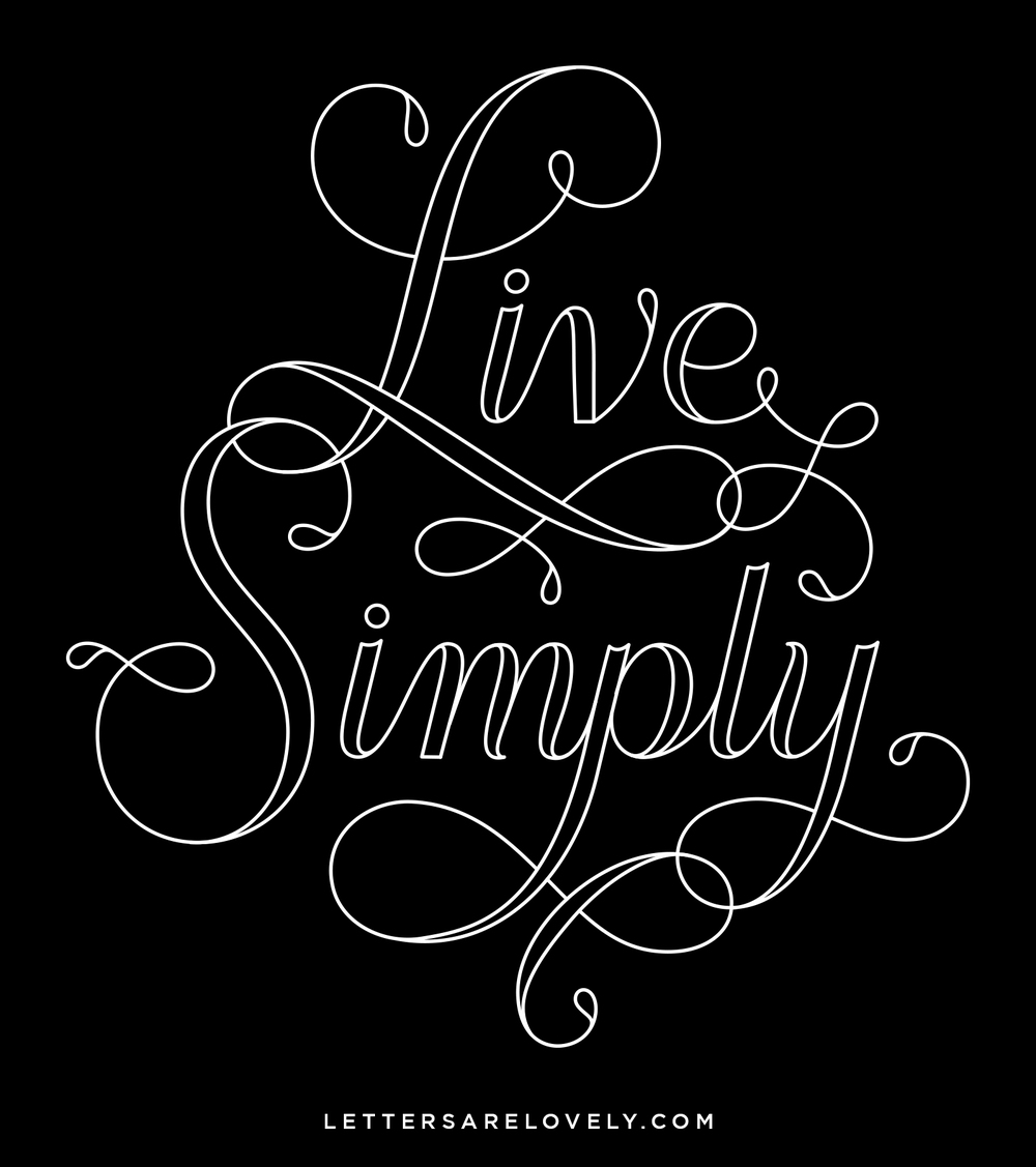 Letters Are Lovely | Live Simply