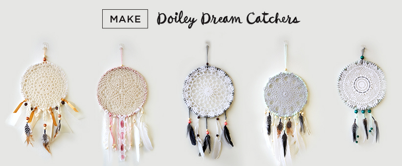 Letters Are Lovely | Think.Make.Share. Doiley Dream Catchers