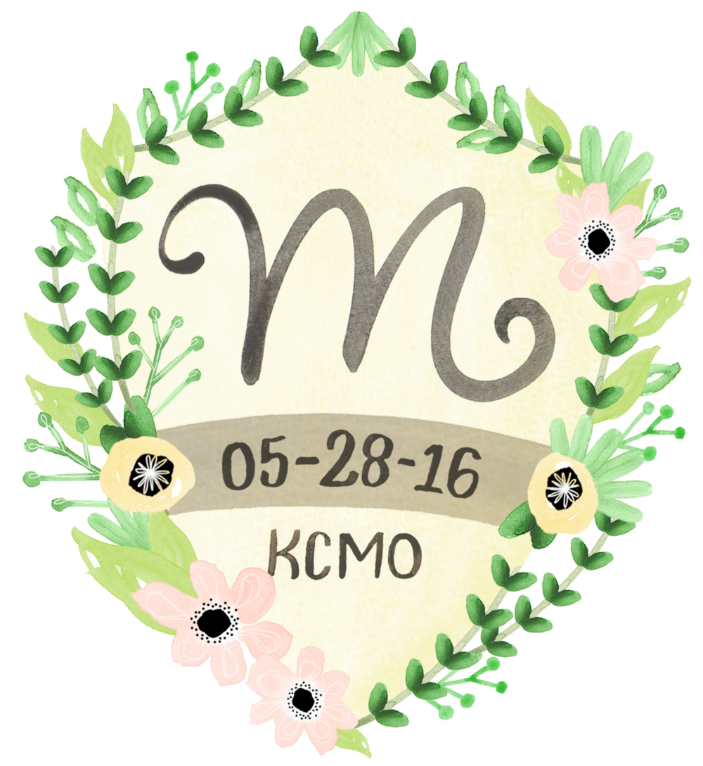 Letters Are Lovely | Watercolor Wedding Monogram