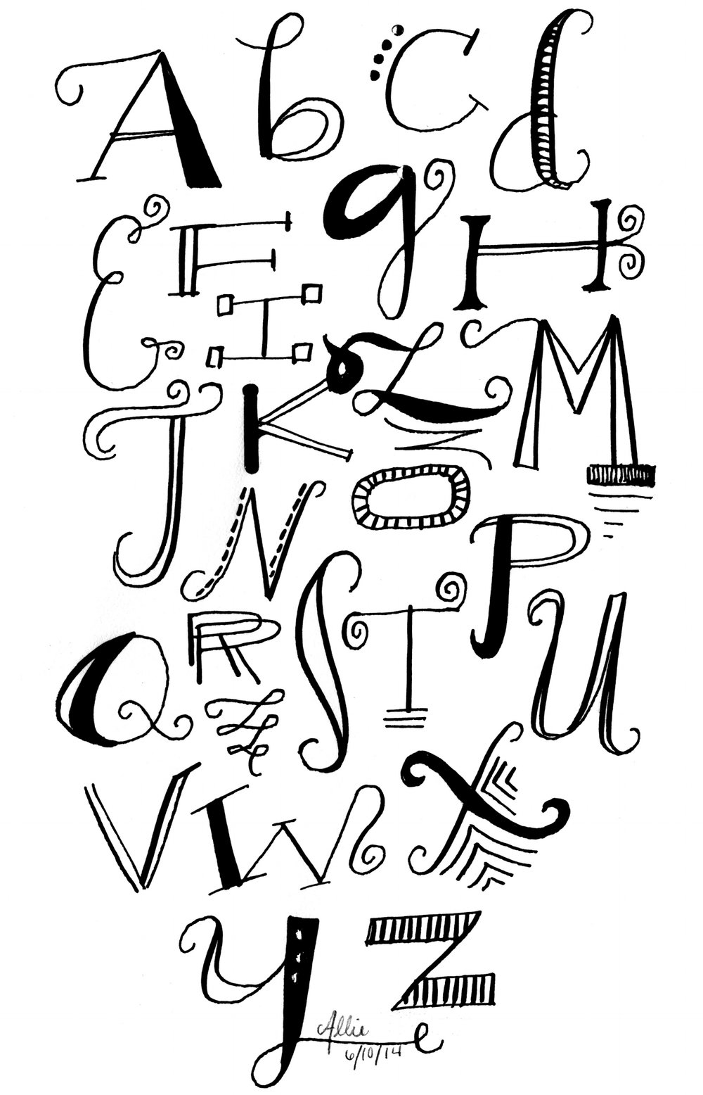 Letters Are Lovely | Pointed Pen Lettering
