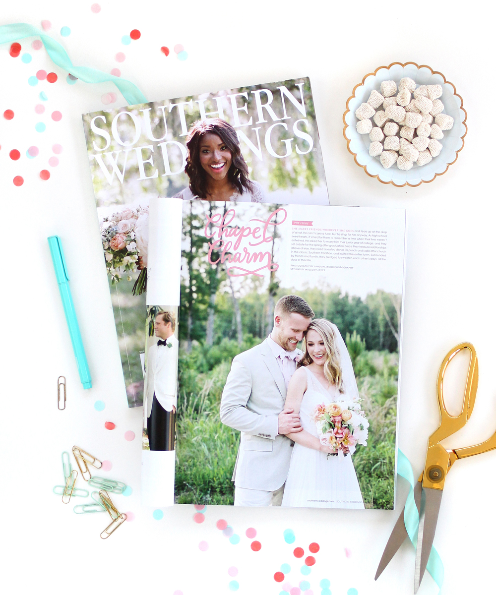 Letters Are Lovely | Southern Weddings Magazine Paper Goods and Banner Design and Lettering
