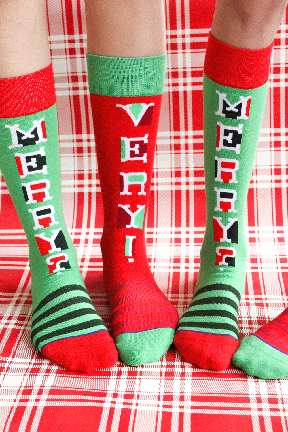 Letters Are Lovely | Merry? Very! Socks for Hallmark