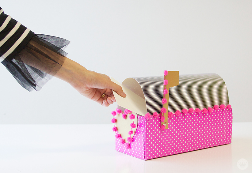 Letters Are Lovely | DIY Valentine Mailbox for Think.Make.Share.