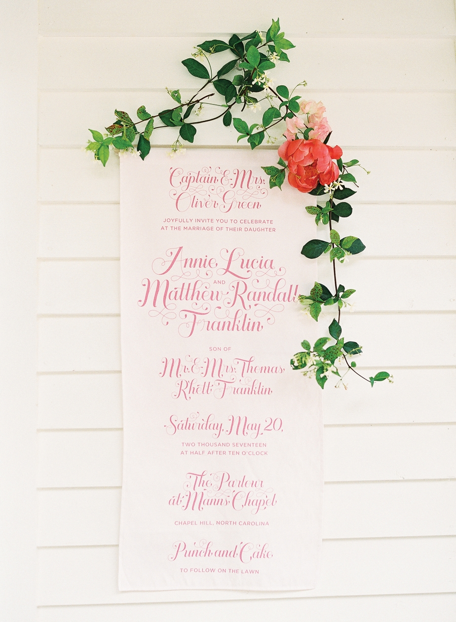 Letters Are Lovely | Paper Goods and Banner Design for Southern Weddings Magazine V9
