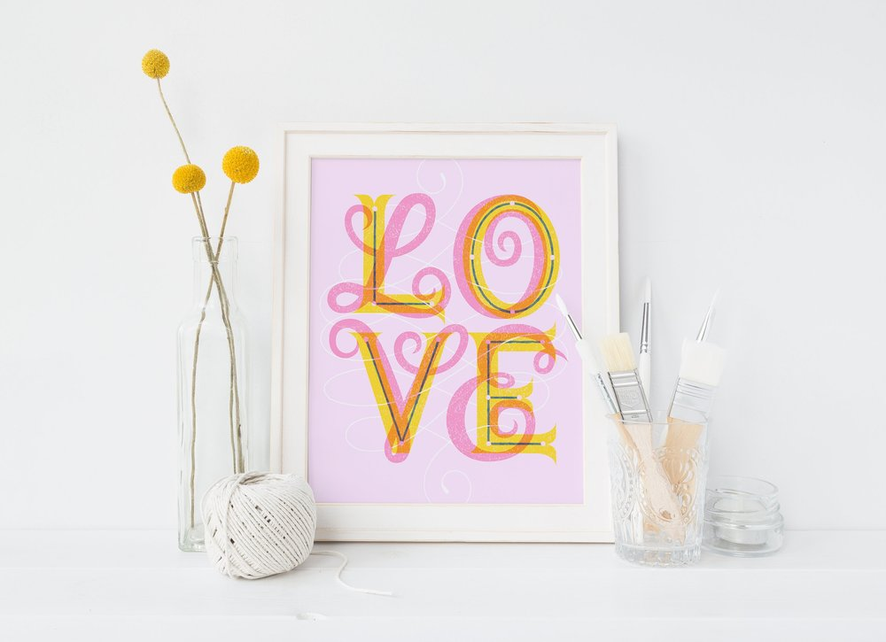 Letters Are Lovely | Love Print