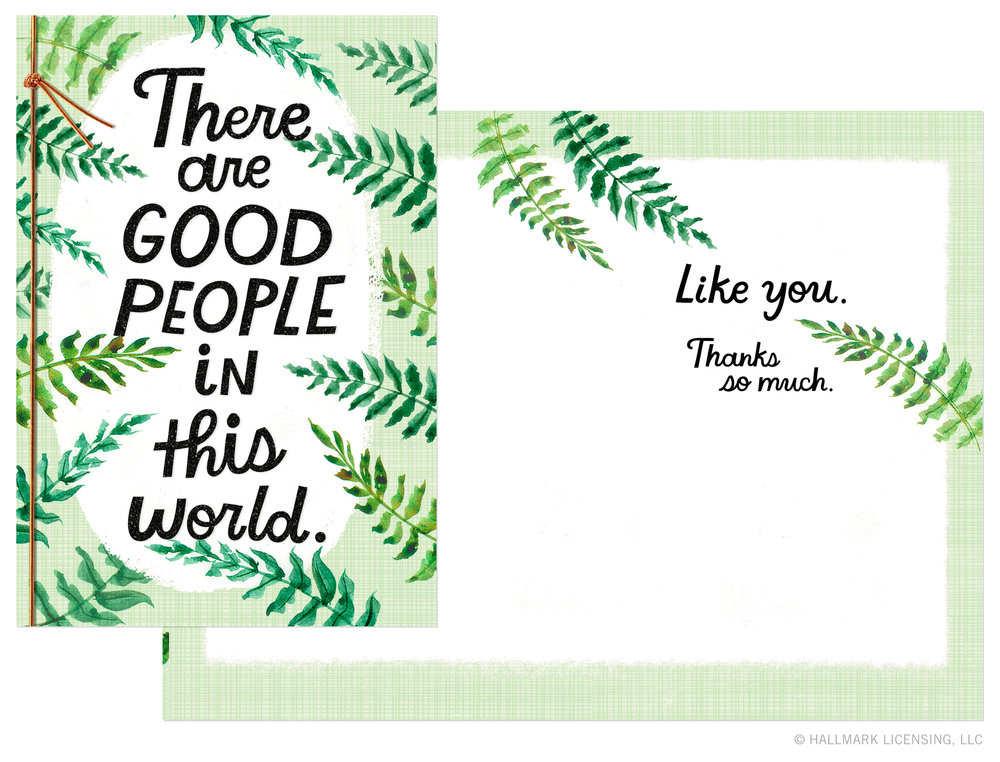Letters Are Lovely | Good Times Fronds Cards for Hallmark