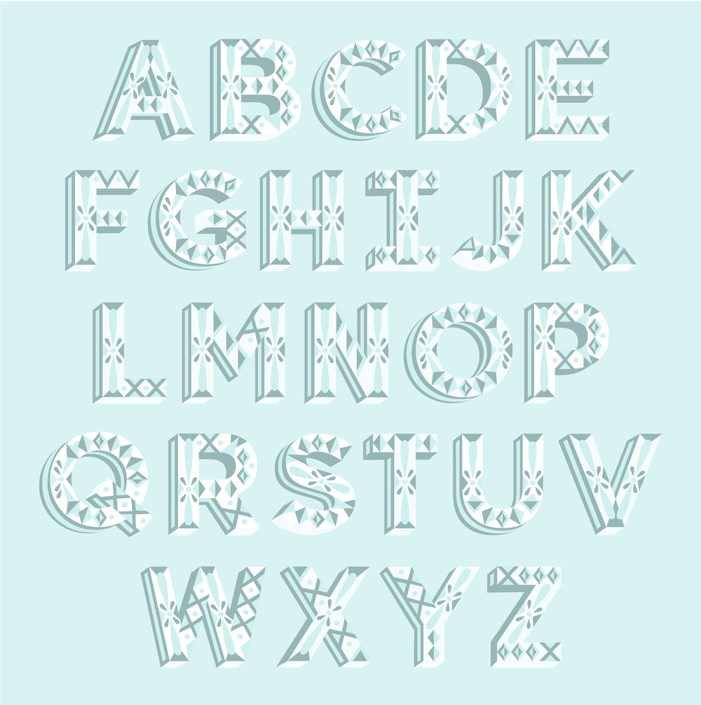 Letters Are Lovely   Decorative Alphabet