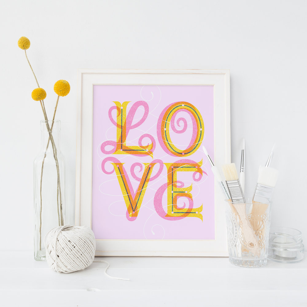 Letters Are Lovely | Create Without Regrets Vector Lettering
