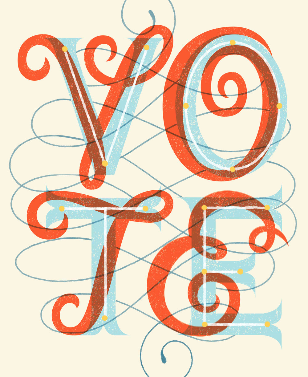 Letters Are Lovely | Let's Vote!