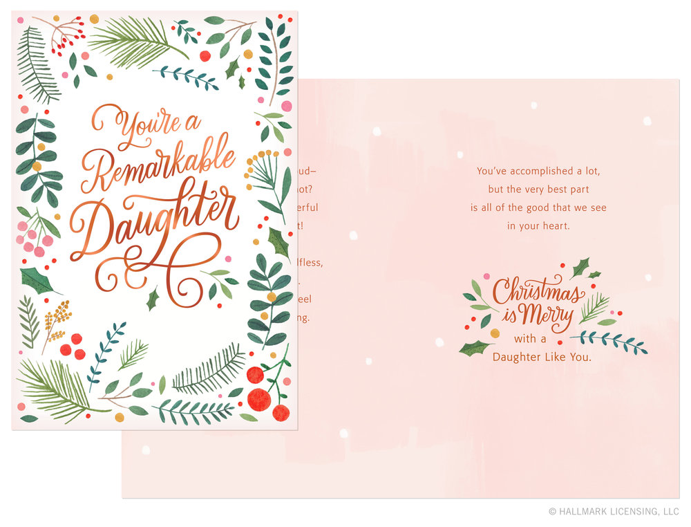 Letters Are Lovely | Daughter Christmas Card