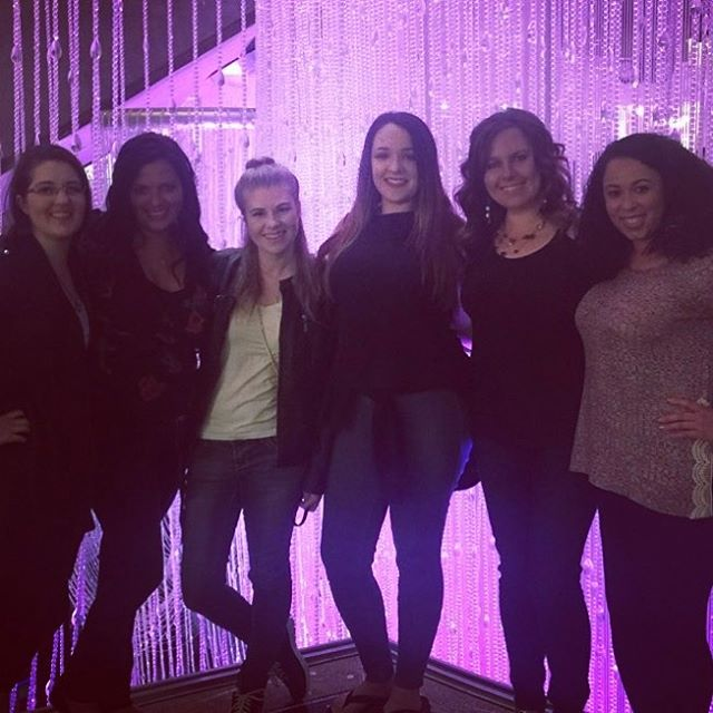 Work hard, play hard. Toasting to a successful @ahrexpo !! #workhardplayhard #parkerpr #vegas #chandalierbar #ahrlasvegas2017 #cosmopolitanlasvegas