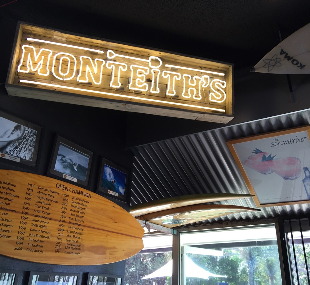 Monteith's neon by SPARC Design, Surfers Sandbar, Surfers Paradise QLD