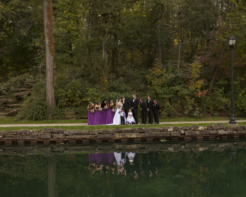 the bridal party at the Lagoon