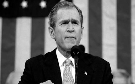 G W Bush 01 b&w.jpg