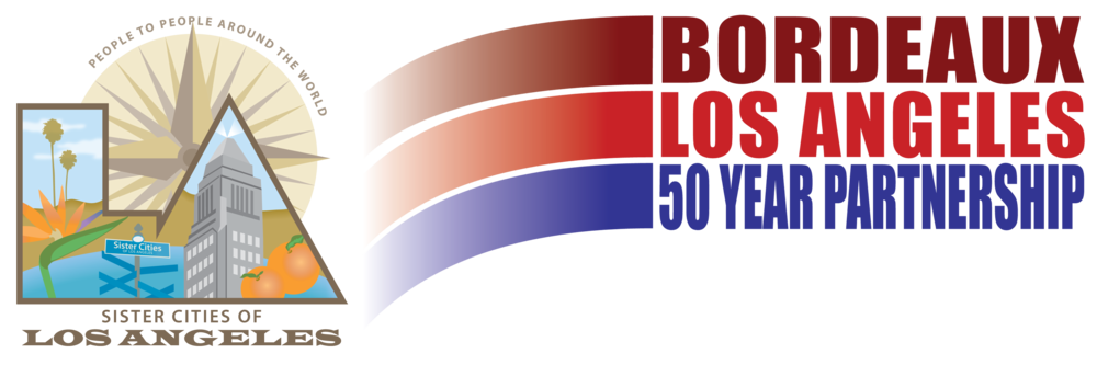 LA-Bordeaux 50 year-Sister Cities logo.png