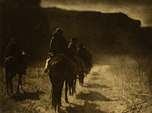 EDWARD SHERIFF CURTIS THE VANISHING POINT (1904)