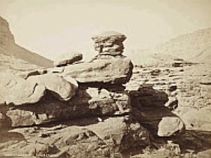 JOHN K. HILLERS ERODED SANDSTONE, KANAB CANON (1870S)
