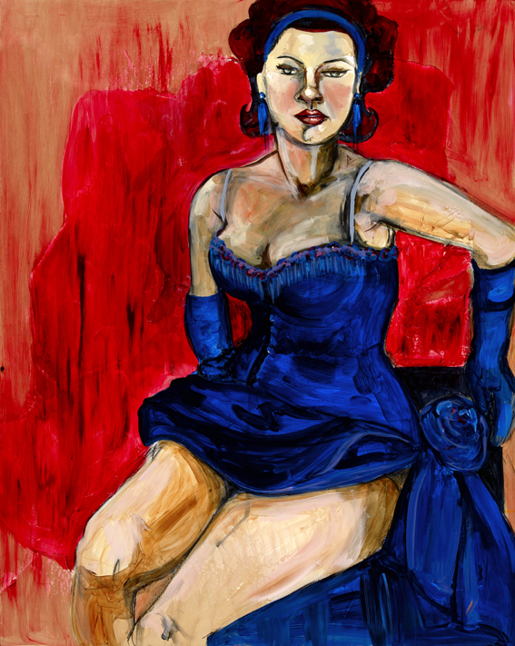 Yolanda Gonzalez - Portrait of Marissa in Blue Dress, 2011