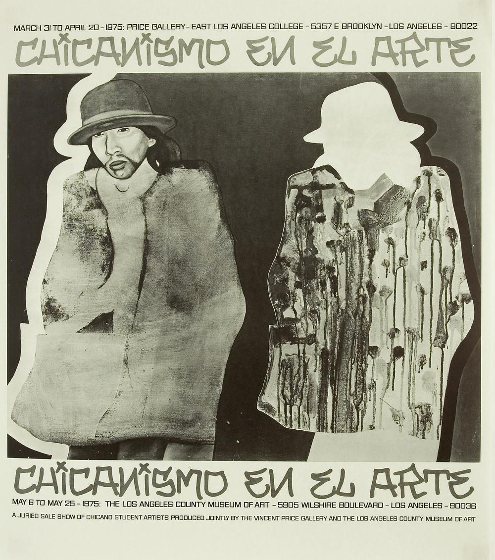 Chicanismo en el Arte, affiche d'exposition, Price Gallery et LACMA, 1975
