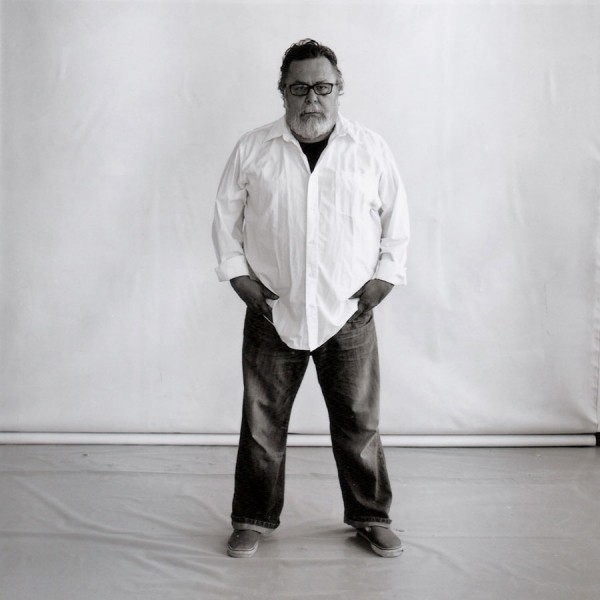 John Valadez in his workshop. Los Angeles, September 2013.
