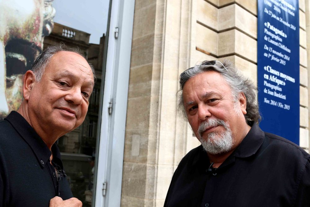 Cheech Marin and John Valadez
