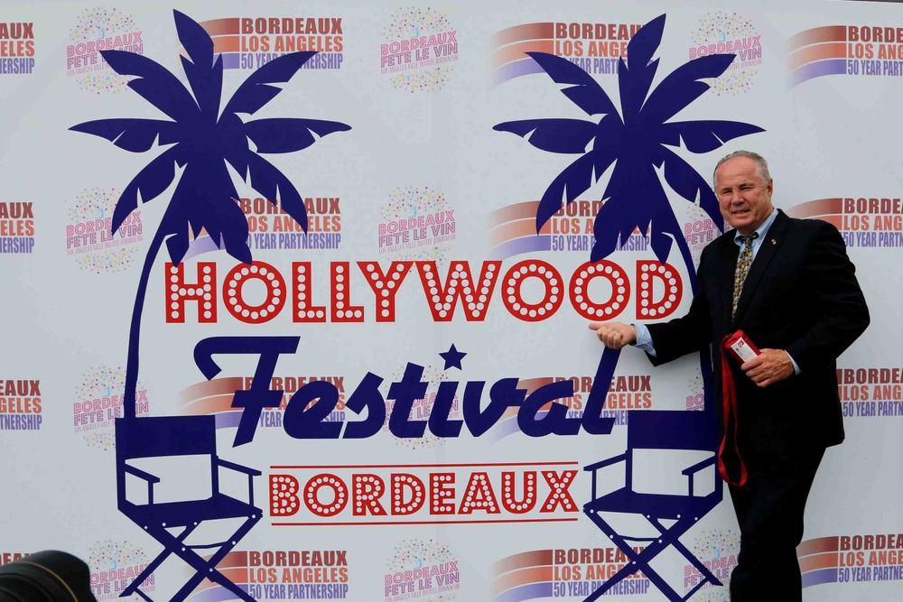 Councilmember Tom LaBonge at the Hollywood Festival Cinema at the Bordeaux Fête Le Vin.