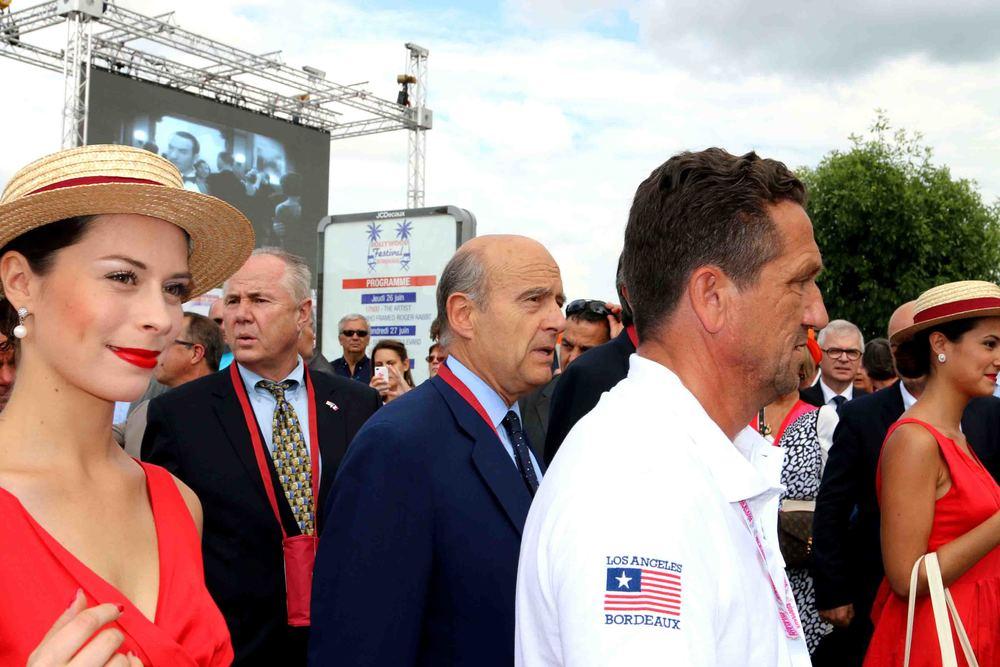Councilmember Tom LaBonge, Mayor Alain Juppé and Laurent Maupile, Direc tor ofBordeaux Grands Evénements