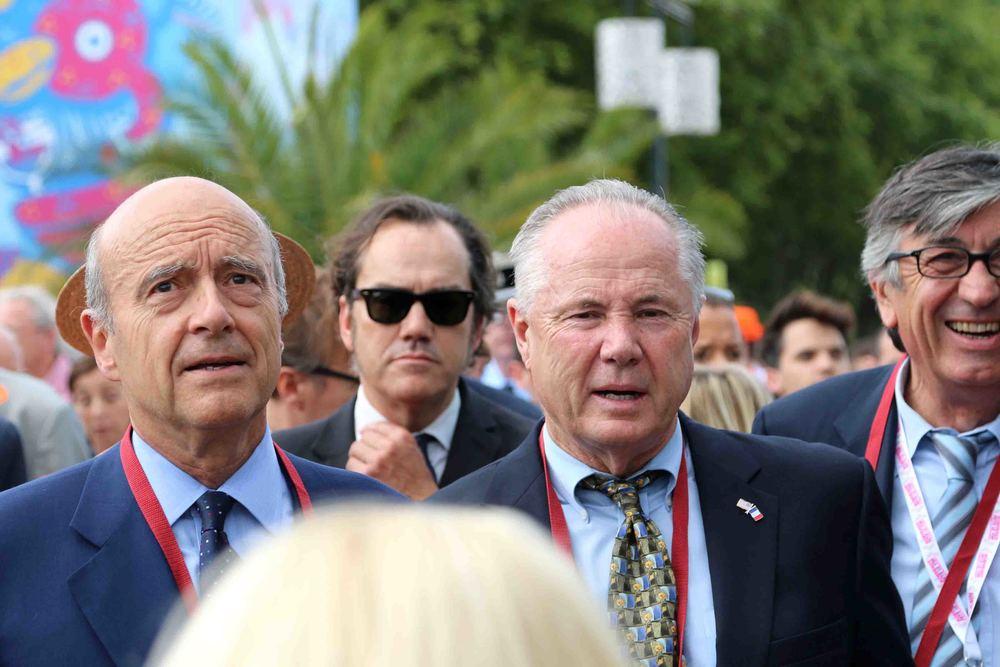 Mayor Alain Juppé, Councilmember Tom Labonge and Deputy Mayor Stephan Delaux
