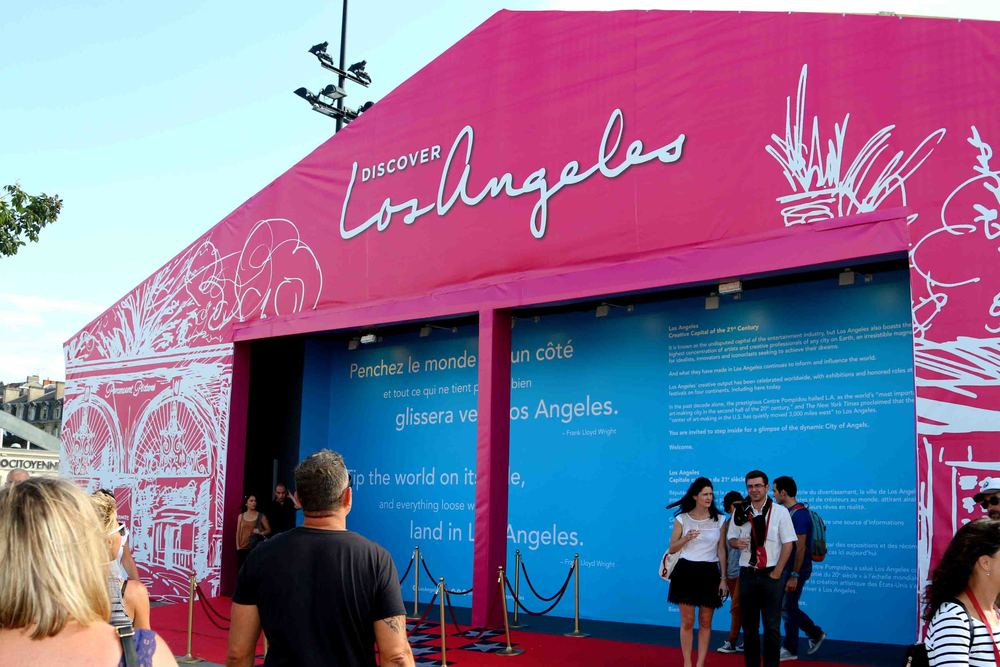 Los Angeles Pavilion, hosted by LA Tourism and Convention Board