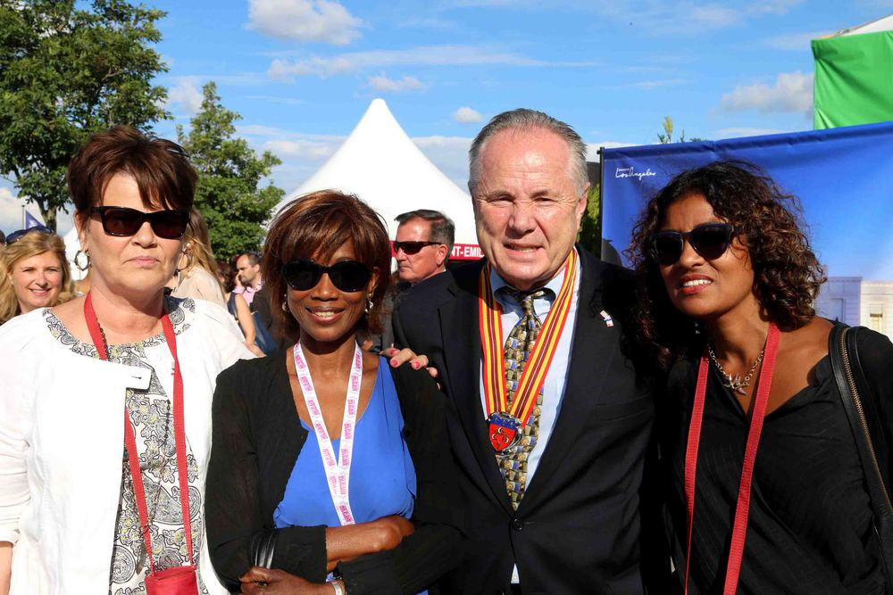 Brigid LaBonge, Sophie Senghor, Deputy Director General of International Relations, City of Bordeaux, France, Councilmember Tom LaBonge, Kamilla Blanche, Director of Sister Cities of Los Angeles