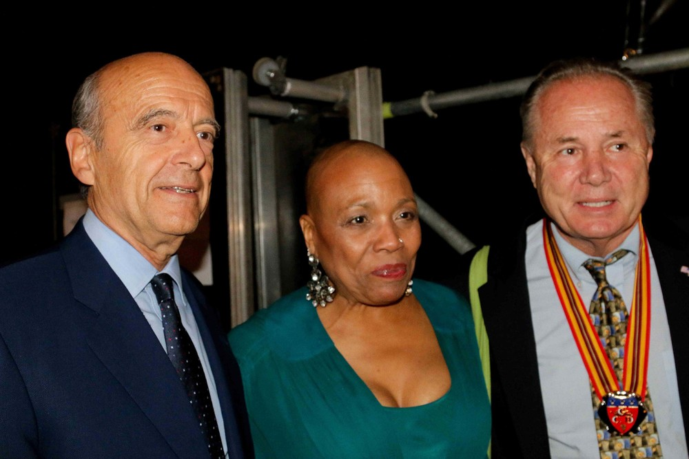 Backstage with Mayor Alain Juppé, Dee Dee Bridgewater and Councilmember Tom LaBonge.