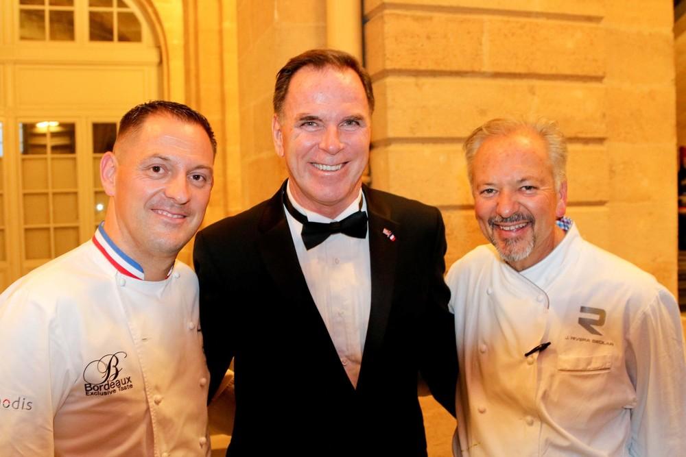 Chef François Adamski, President of Sister Cities, Tom Gilmore and Chef John Sedlar