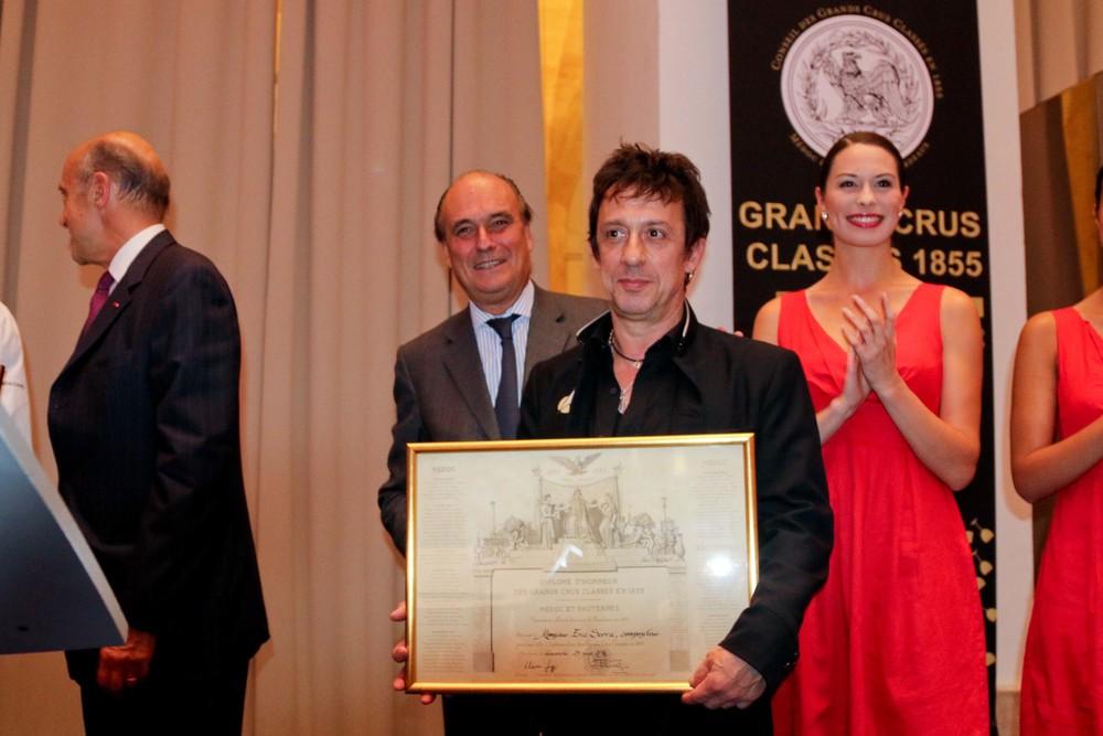 "Film Composer, Eric Serra with his Diplome d""Honneur des Grands Crus"