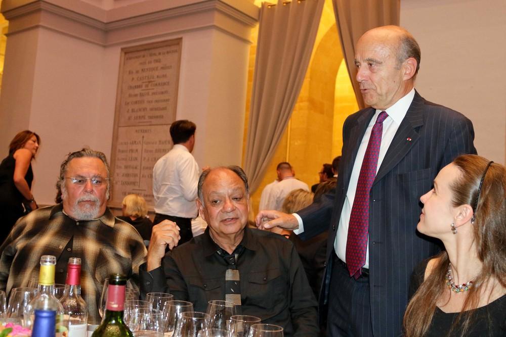 John Valadez, Cheech Marin, Mayor of Bordeaux Alain Juppé and Natasha Marin