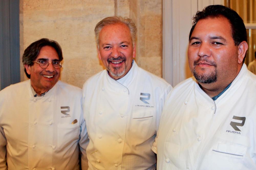 Norman Kolpas, President of Kolpas Media Inc, Chef John Sedlar andMartin Duran, Rivera Restaurant