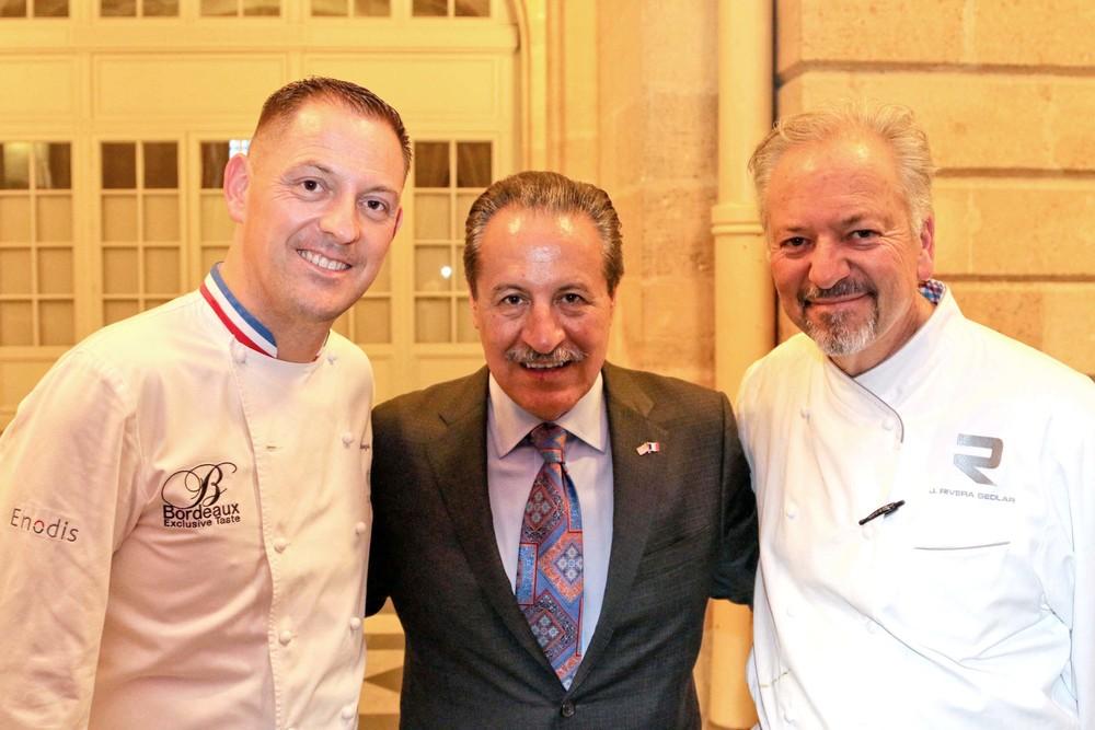 Chef François Adamski, Castulo de la Rocha,President and CEO of AltaMed Health Services Corporation and Chef John Sedlar