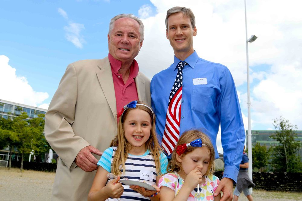 Councilmember TomLaBonge and U.S. Consul General, Thomas Wolf and daughters