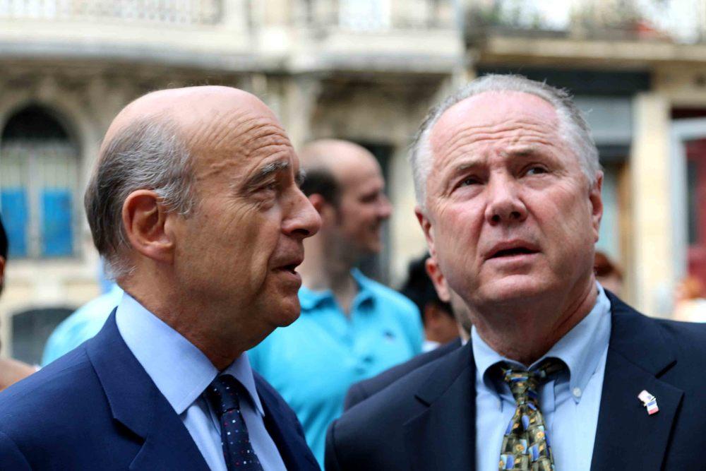 Mayor of Bordeaux, Alain Juppé and Councilmember, Tom LaBonge