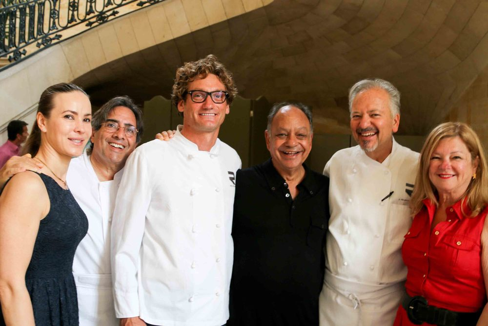 Natasha Marin, Norman Kolpas, Andrew Douglas, Cheech Marin, Chef John Sedlar and Olga Garay-English, Chief Adviser to Local and International Programs