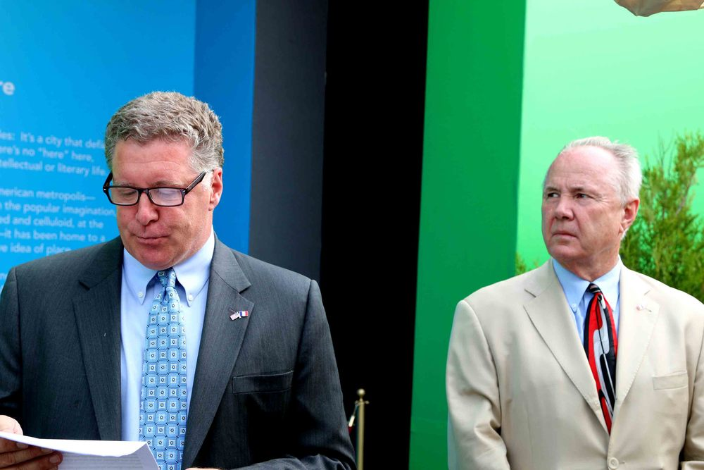 Don Skeoch, Chief Marketing Officer for the Los Angeles Tourism & Convention Board and Councilmember Tom LaBonge