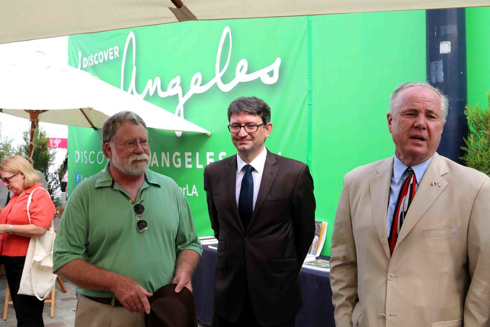 HankHilty,President and CEO of the A.F. Gilmore Company.  Consul General, Axel Crau, Councilmember Tom LaBonge