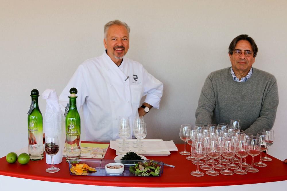 Chef John Sedlar and Norman Kolpas, President of Kolpas Media Inc.