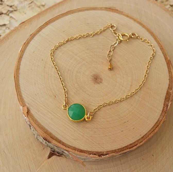 Bezel gemstone bracelets