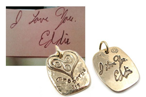Turn a hand-written message into a keepsake