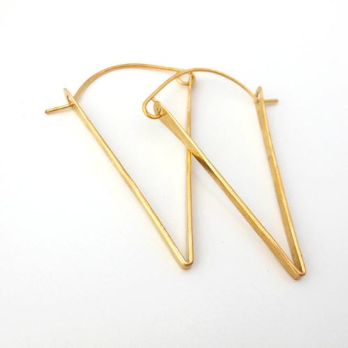 hammered triangle earring nan jewelry