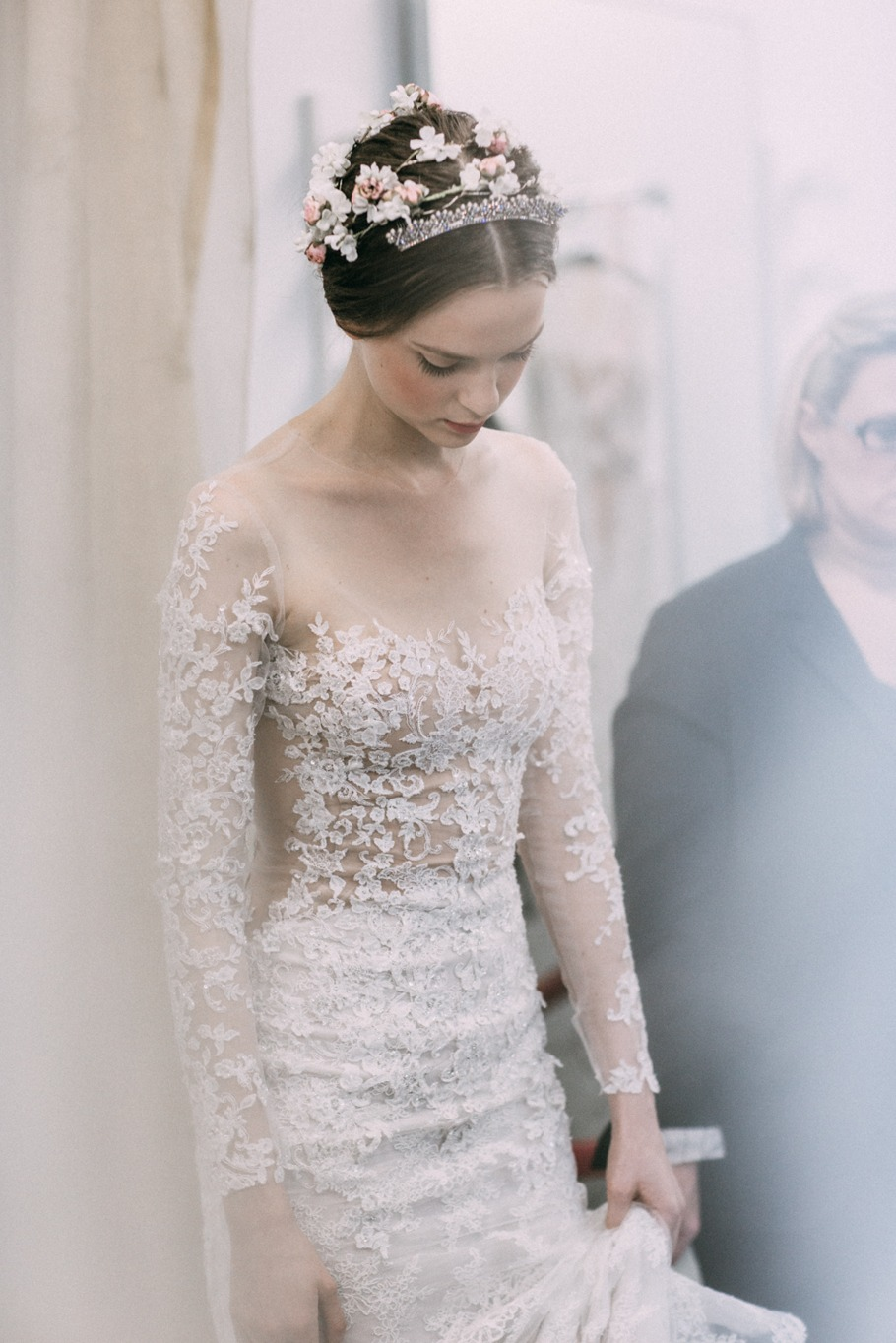 gown by Reem Acra photo by Abby Ross