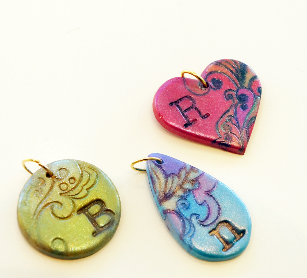 Make a monogram pendant at our design class with Nuby! 11:00 and 5:00 Classes. Call to reserve your spot