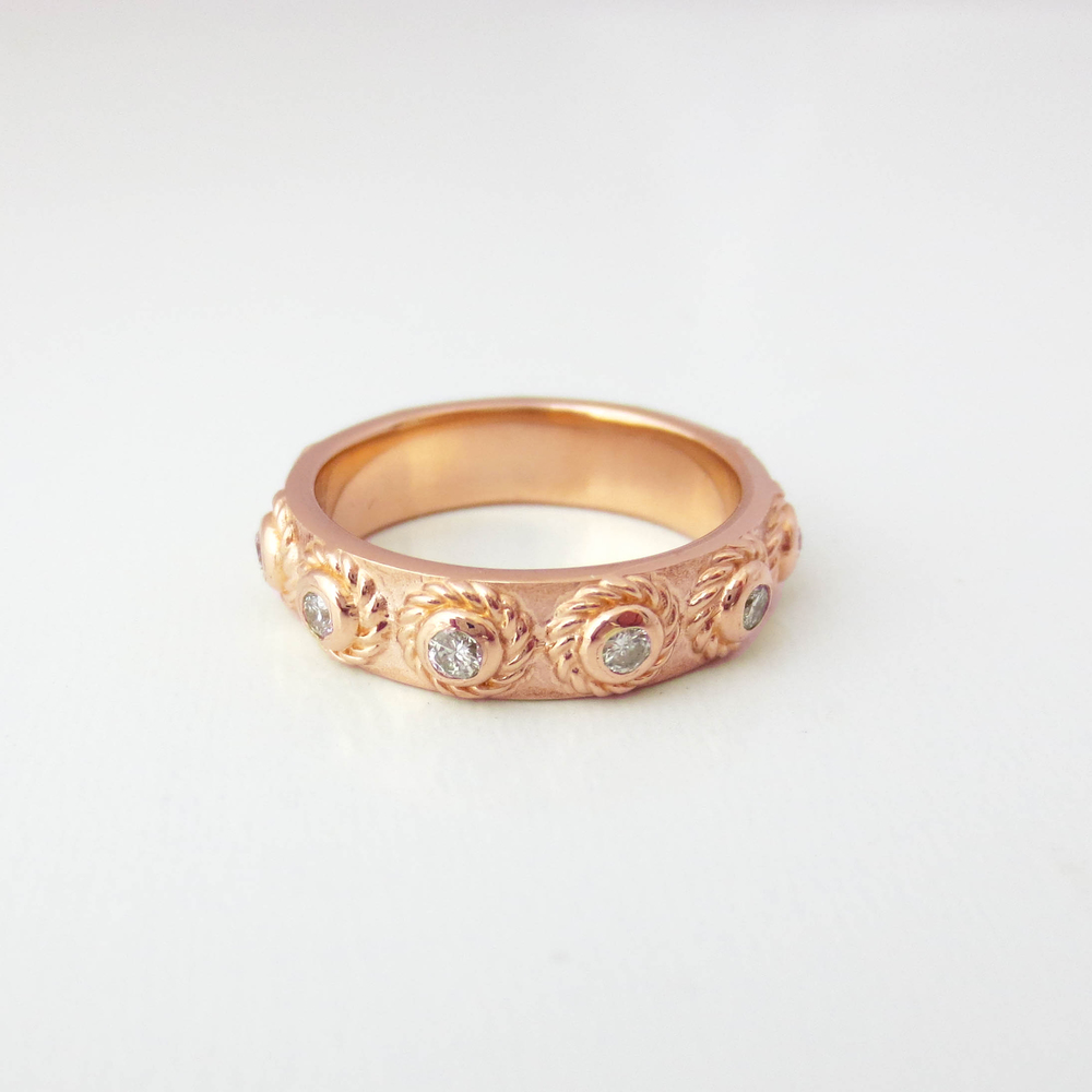 Romanesque Diamond Eternity Band